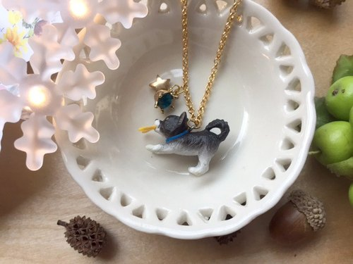 Zoe's forest Puppy Star Game Necklace