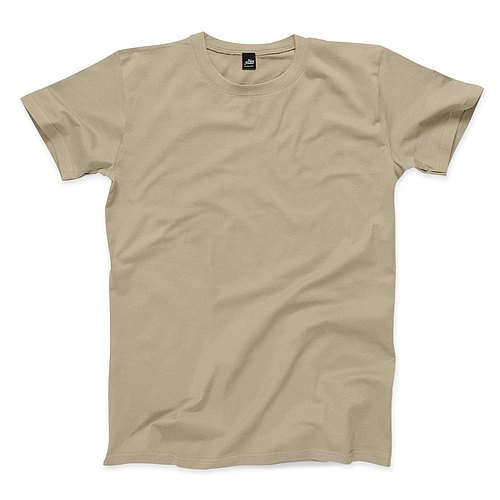Neutral plain short-sleeved T-shirt - khaki