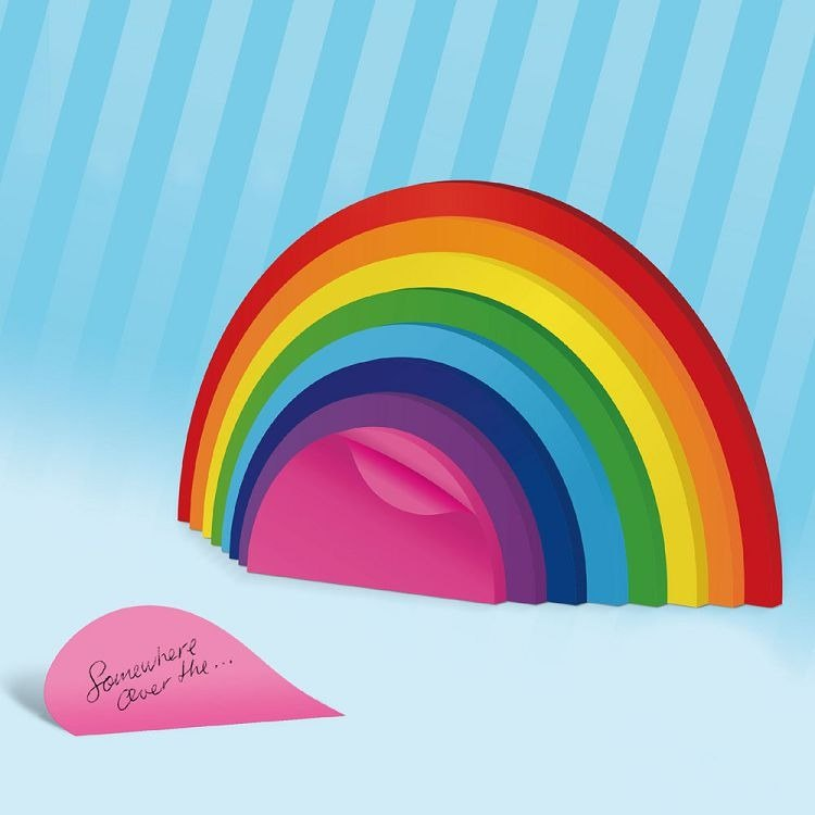 British Mustard Fun Sticky Notes - Rainbow