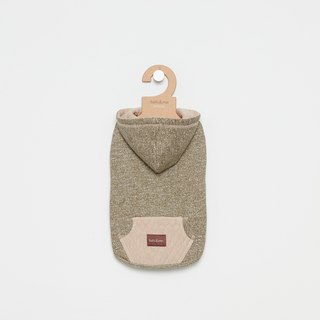[Tail and me] pet clothes hooded diamond pocket top green khaki