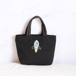 Rocket Ejection Embroidered Eco Bag Tote