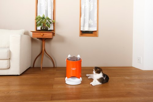 Japan Lusmo Pet Timing Automatic Feeder - Orange