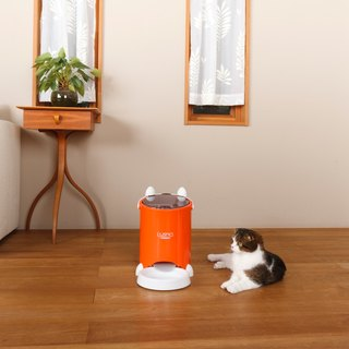 Japan Lusmo Pet Timed Automatic Feeder - Orange