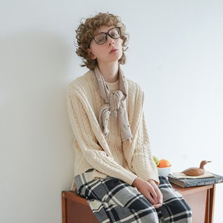 Apricot braided sweater - imakokoni