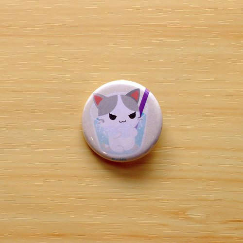 Purrballs Cat Button Badges - Hako & Iced Soda