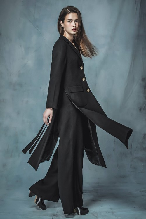 YUWEN black long coat