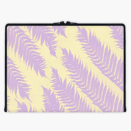 Axis - Custom 3-Sided Zipper Laptop Sleeve - Palm Leafs
