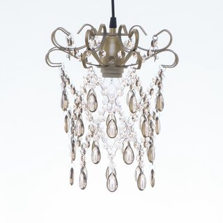 BNL00049- rose gold flat iron boxes acrylic beads chandelier