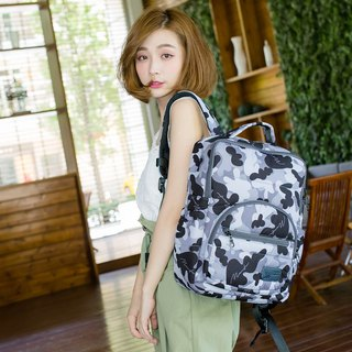A4 laptop folder can be placed [small tofu - melody camouflage] built-in waterproof zipper mezzanine