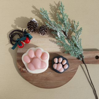 Cat Paw Soap Gift Set with Mini one | with a paper bag and Xmas Card