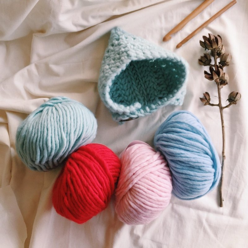 Hand-woven material package * elf ear cover cap (Aqua)