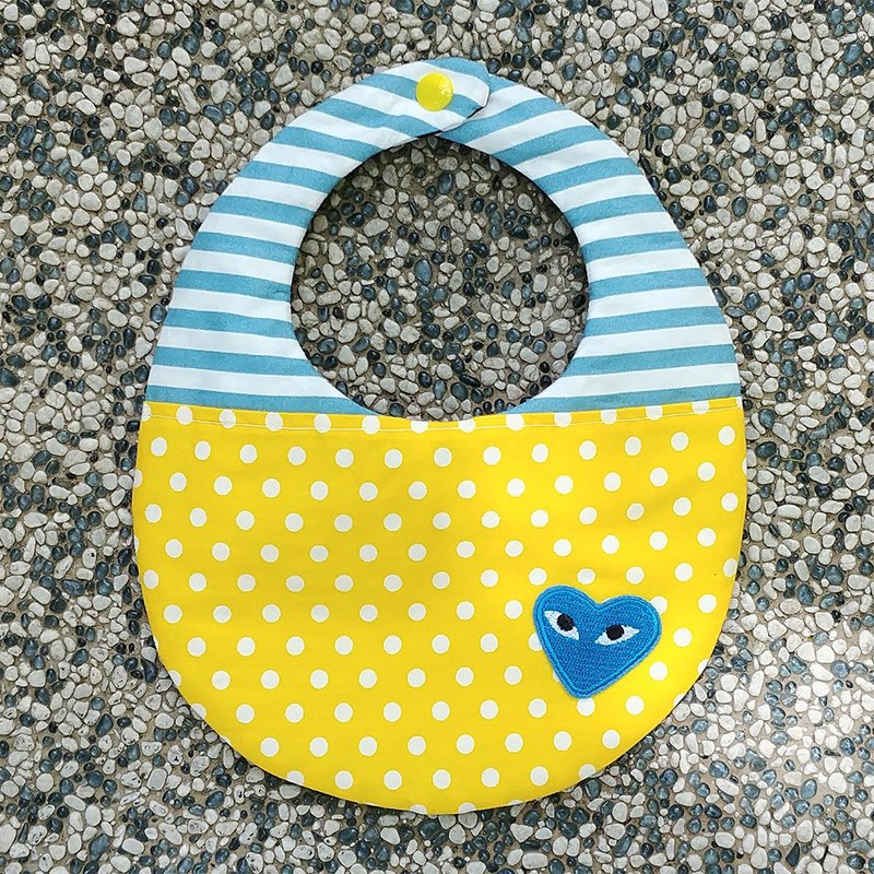 Lemon love double-sided hand made bib / Miyuki gift birthday gift Christmas gift