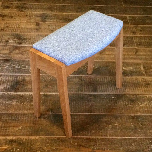 Stool with storage Petit / Cloth seat