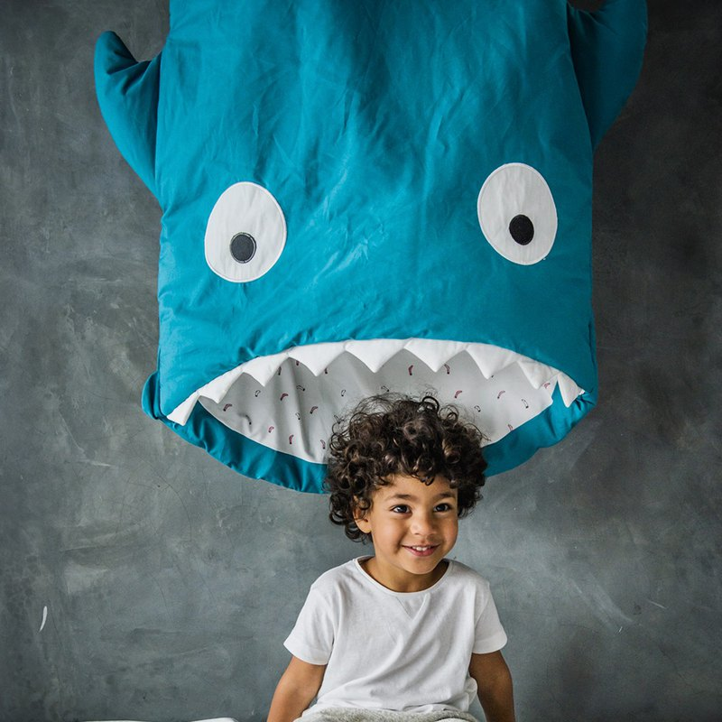 [Spain] Sharks Bite BabyBites Cotton Nursery Multifunctional Sleeping Bag - Standard Edition