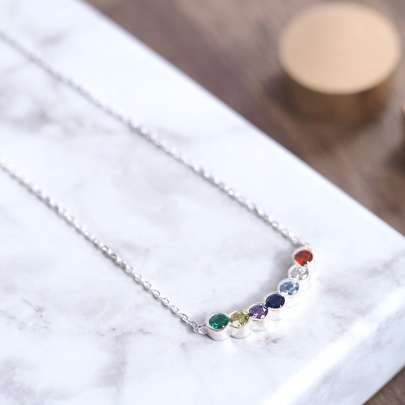 Arch necklace Silver 925 Rainbow rainbow