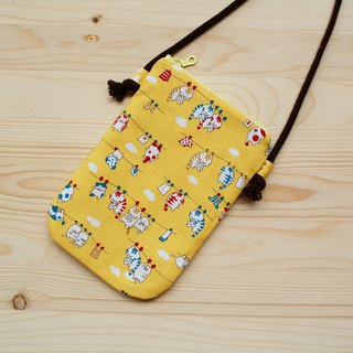 Cat Sunbathing Mobile Phone Bag