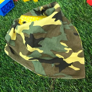Fashion Scarf*Camouflage Green*Three-dimensional triangle bibs