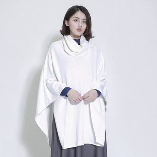 Dissociate Free High Collar Cloak _7AF031_米白
