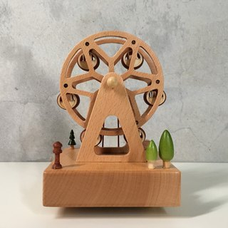 [TAB](Valentine's Day Limited) Wooden Dynamic Music Box - Ferris Wheel/ Customized/ Lettering/ Laser Cutting/ Healing Small Things/ Wedding Small Things