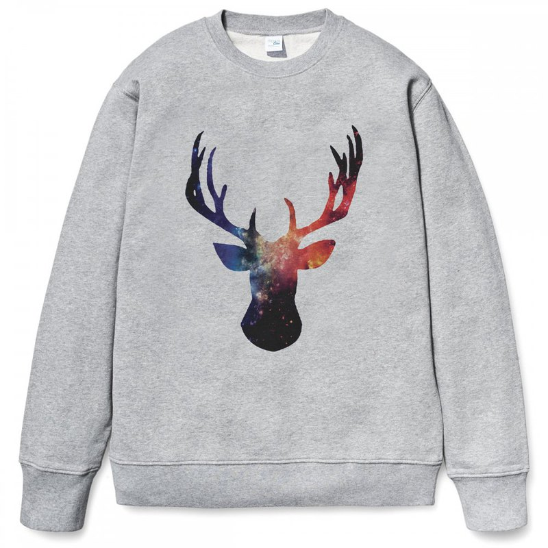 Cosmic Stag University T bristles gray deer universe cheap fashion design own brand Milky Way fashion triangle