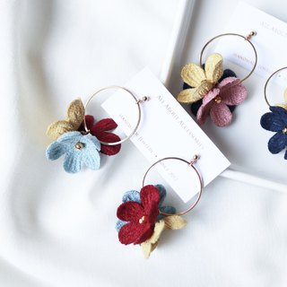 Petal Tassel Series - Geometric Petals Earrings / Ear Clips