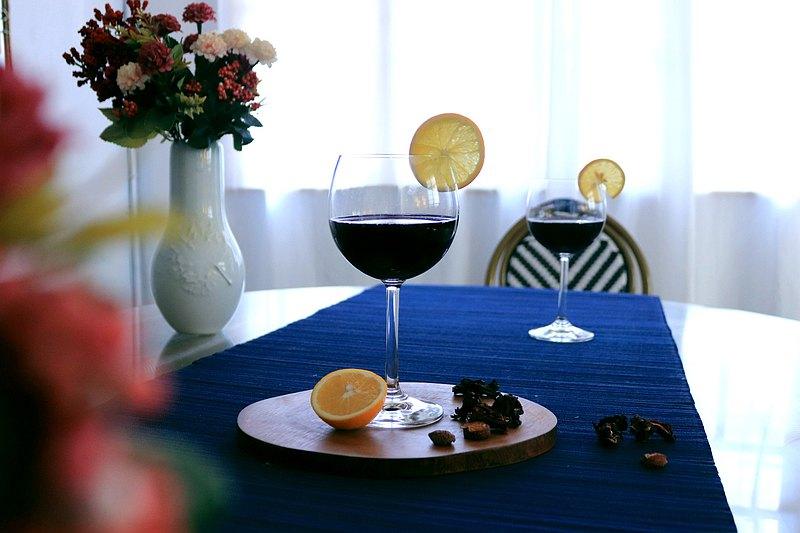 棲仙SECLUSION OF SAGE/欣欣玻璃行系列-微醺月光紅酒杯