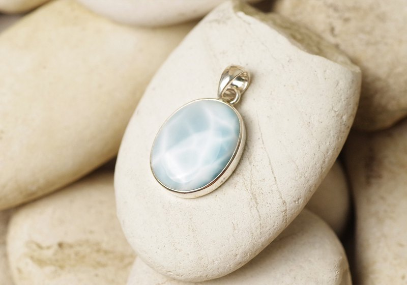Larimar Pendant Top - Gemstone Pendant Necklace