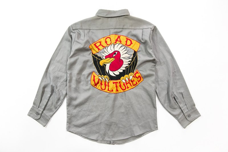 3thclub Myeong-Rong Road Vulture Work Shirt Embroidered Road Vulture RVT-004