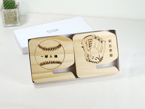 A baseball glove ball into the soul + First blog implement into the phone 2 Seat movement birthday Valentine's Day gift custom 3C peripheral card holder