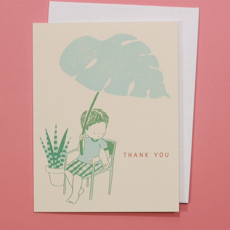 Thank you Card - Monstera Leaf