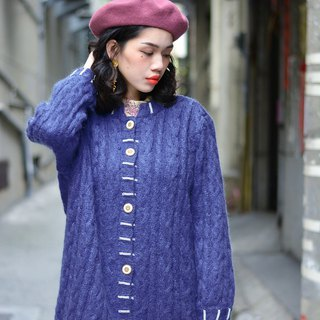 Indigo jade | vintage sweater coat