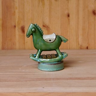 Rocking horse music box [dark green]