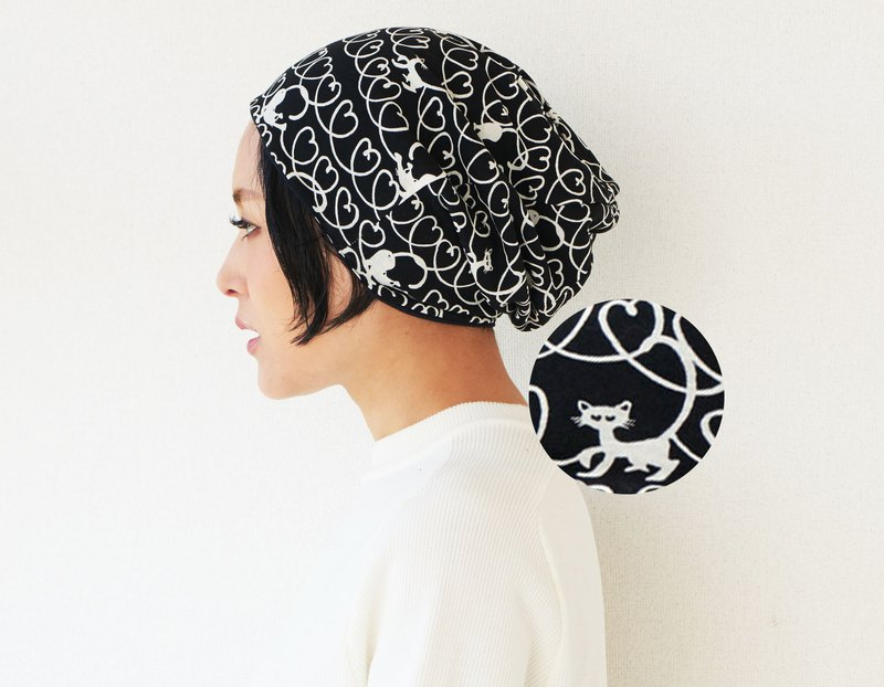 MADE in JAPAN Cat Lover Organic Cotton Slouchy Beanie