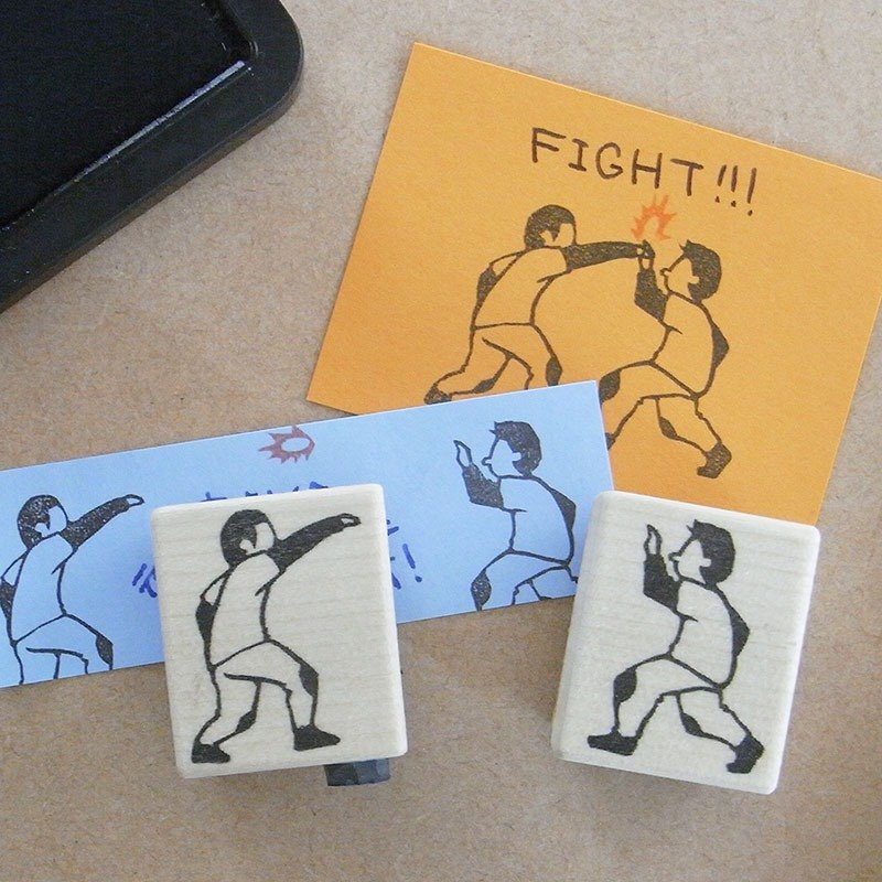 Hand made rubber stamp Play catch