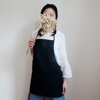 Linen Apron in Midnight Black Handmade Apron Gift