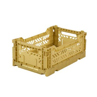 Turkey Aykasa Folding Storage Basket (S) - Mineral Gold