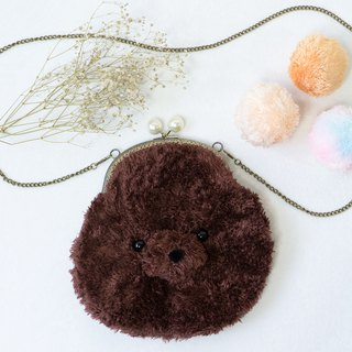 Good romantic Baby Fur / mouth gold bag / side backpack / Christmas gift / exchange gifts