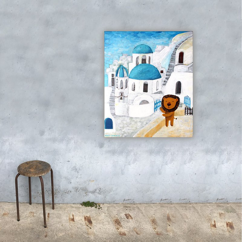 Frameless copy painting, travel to Greece