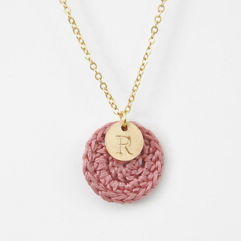 [customized] your exclusive*happy annual ring*necklace small circle English letters warm series