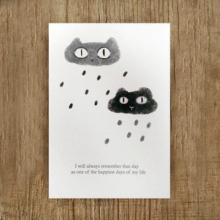 / Puputraga / Plus purchase ~ No separate sale ~ rain の mood illustration postcards