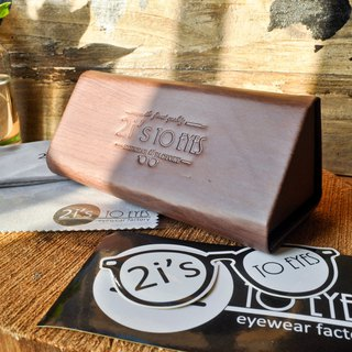 Glasses Box│Portable Triangular Box│Wooden Coffee│2is BT01Wa