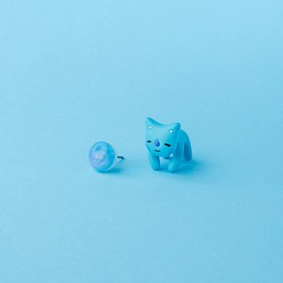 Koya BTS Cat - Polymer Clay Earrings, Handmade&Handpaited Catlover Gift