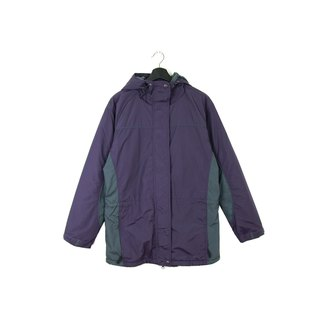 Back to Green :: windbreaker cotton jacket Columbia gray purple / men and women can wear // Vintage outdoor (CO-09)