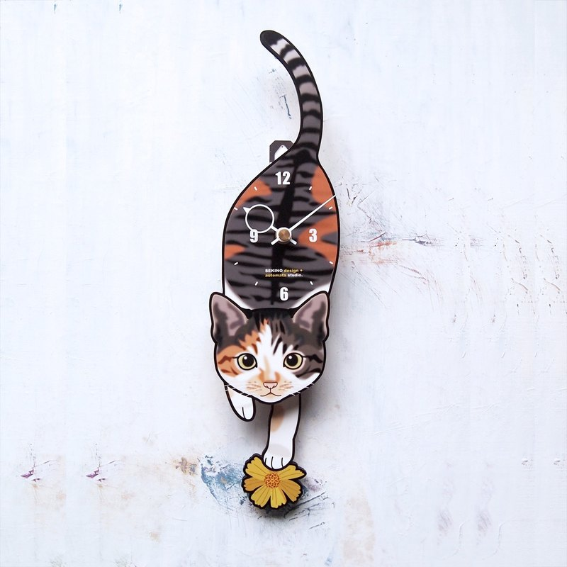 C-37 Tortoiseshell cat(kitten)- Pet's pendulum clock