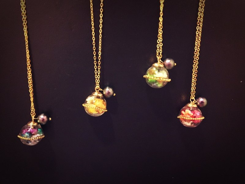 Flower Planet Necklace
