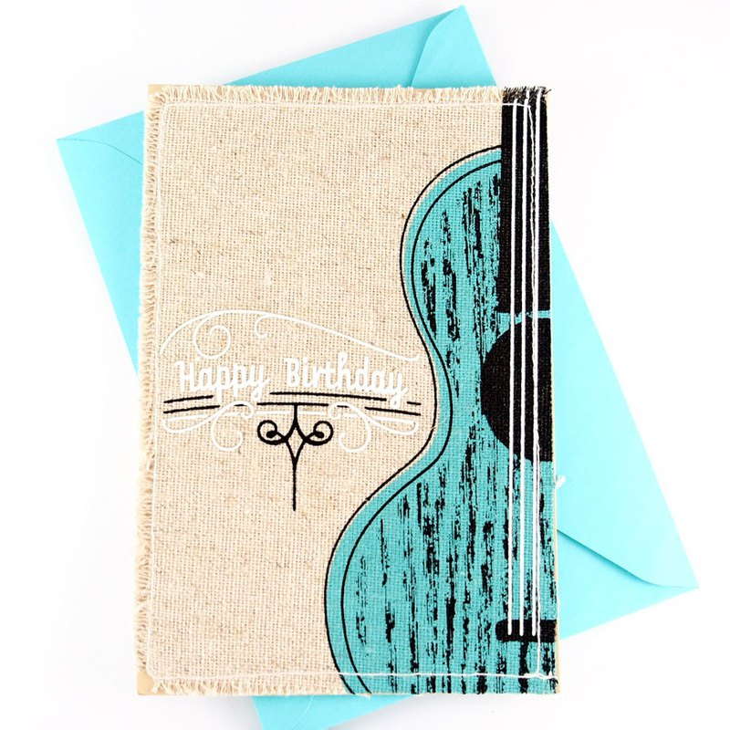 Carrying a guitar to wander [Hallmark Classic Handmade Series Birthday Blessing]
