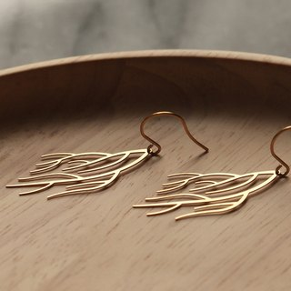 Golden Trees Quiet Earrings (Gold)