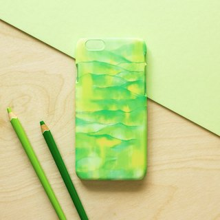 Yellow and Green Mountain . Matte Case (iPhone, HTC, Samsung, Sony)