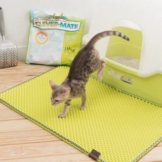 Blackhole Cat Litter Mat- Super Size Rectangular (Green)