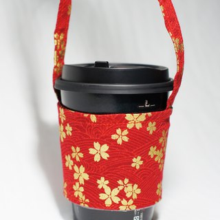 [AnnaNina] green cup set cup bag bag drink can accommodate love cherry red